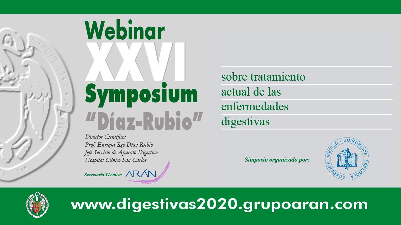 Webinar XXVI Symposium Enfermedades Digestivas 2020